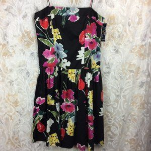 American Living Black and Floral dress 100% cotton